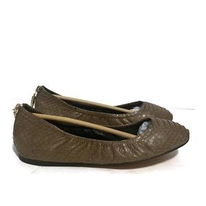 Dolce Vita Arden Desert Snake Leather Slide Sz 9.5
